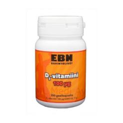 EBN D3 Vitamiin D geelkapslid (100mg